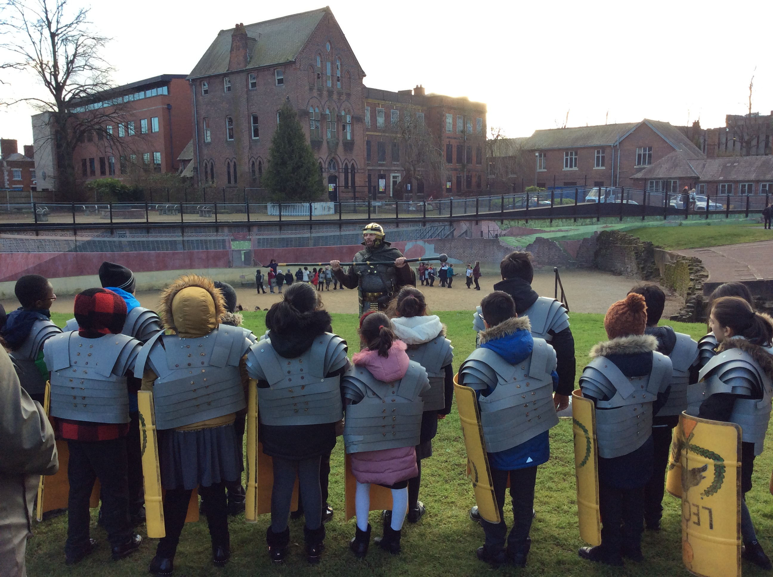Year 4 visited the Roman town of Chester